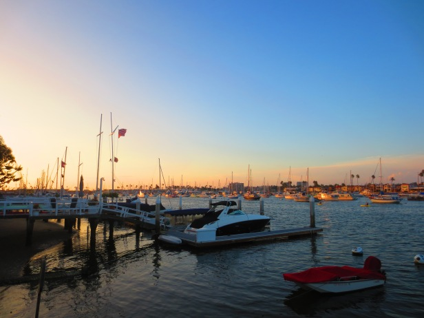 Sunset over Newport Harbour